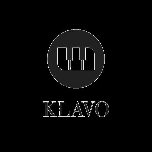 KLAVO Logo, Klavier, Flügel, Transportrollen, Klaviere, Keyboard
