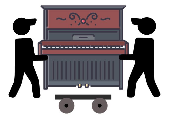 Wie bewegt man ein Klavier? Klavier bewegne, klavier anheben, klavier transportieren