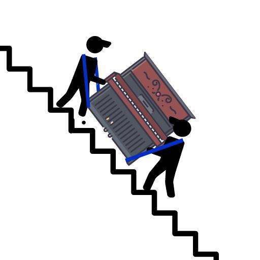wie bewegt man ein klavier, klavier treppe transport, klavier tragegurt, klavier transportieren